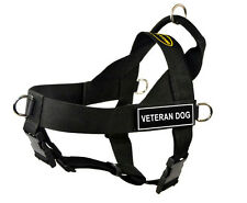 Dean & Tyler DT Universal No Pull Nylon Dog Harness With Patches Stop Pulling Medium Detection K9