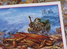 Dragonlands Myles Pinkney Art wizard Glow in the Dark 500 Puzzle new sealed bag
