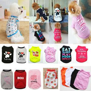 Small Dog Summer Pet Costume Cat Clothes Cute Puppy Kitten T-shirt Vest Shirt*