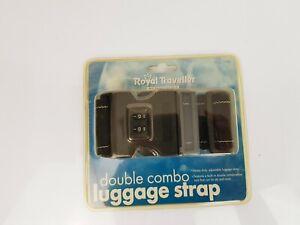 "Samsonite Double Combination Locking Luggage Strap Black up to 72"" NIP!!"