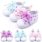 New Infant Baby Girl Floral Soft Sole Crib Shoes Non-slip Sneaker Princess Shoes