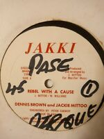"Dennis Brown & Jackie Mittoo ‎– Rebel With A Cause - 12"" Vinyl Single 1986"