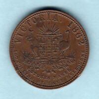 Australia Token. A-548 Stokes  - 1862 Penny. Melbourne Vic. Arms & Vine .. gVF