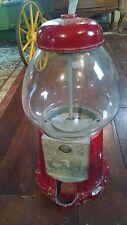 VINTAGE CANDY BUBBLEGUM GUMBALL DISPENSER MACHINE GLASS GLOBE STAND IRON