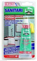 Silicon5 SANITARI silicone bianco inodore superadesivo per ambienti umidi  60ml