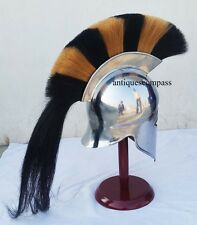 Medieval Greek Corinthian Armour Helmet With Plume Re-enactment Role Play Costum