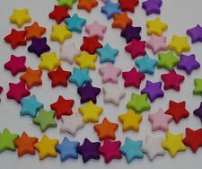300Pcs Solid color matte Acrylic Beads DIY Five-pointed Spacer beads 9mm DF734