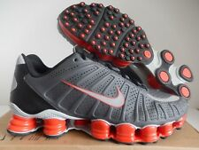 NIKE SHOX TLX TOTAL SHOX TURBO GREY-WOLF GREY-TEAM ORANGE SZ 11 [488313-018]