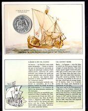 Portogallo Portugal 100 Escudos 1987 Gil Eanes Cabo Silver BRILLIANT UNC FOLDER