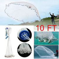 Dia 10Ft Hand Throw Cast Fishing Network Throw Fish Trap Net Spin Bait