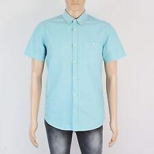 Burton Mens Size M Short Sleeve Aqua Polo Shirt Top