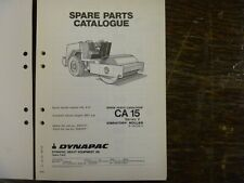 Dynapac Ca15 Series 2 Vibratory Compactor Asphalt Roller Parts Catalog Manual