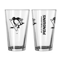 NHL Pittsburgh Penguins Glass Gameday Pint Beer Glass 16.1oz Ice Hockey Barbecue