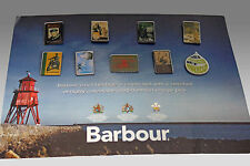 Limited Edition BARBOUR Heritage Pin Badge Collection on Display Card 9 Badges