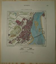 1890 Perron map MONTREAL IN YEAR 1889, QUEBEC, CANADA (#126)