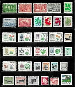 HICK GIRL- MINT (MIXED CONDITION) CANADA STAMP ASSORTMENT   PAGE FULL   E1070