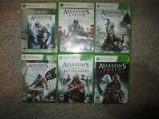 Assassin's Creed 1 II III IV Brotherhood Revelations Xbox 360 Flag 2 3 4 Set Lot