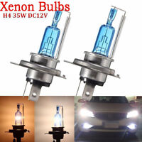 2X H4 35W Xenon HID Headlight Halogen Lights Bulb Lamp High Low Beam White 6000K