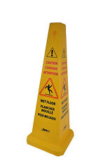 """Wet Floor Cone, Public Caution Safety Cone, 36"""" High x 12"""" Width, Yellow, 1 Pack"""