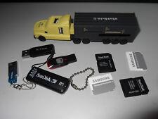 SPIRE Semi-Truck Memory Card Reader + 4 USB Connector & 3 USB Memory Sticks