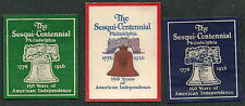 1926 USA Sesqui-Centennial Philadephia Lot of 3 Different Poster Stamps
