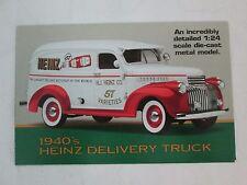 Danbury Mint Brochure 1940's Heinz Delivery Truck