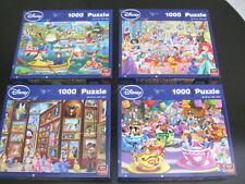 4 x Puzzle DISNEY je 1000 Teile, alle vollständig, alle ca. 48 x 67 cm