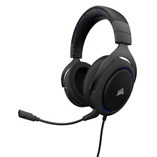 Corsair HS50 Stereo Gaming Headset with Microphone (Carbon/Blue) (EU)