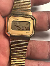 Nice Vintage Unisex Gold Tone Seiko F051-5009 Digital Watch