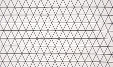 Baumwolle Jersey Stoff, Quality Textiles, Dreiecke-Rauten, Weiß/Schwarz, 150 cm