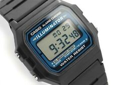 Casio  F-105W-1A Original New Retro Digital Black Resin Alarm Watch F-105