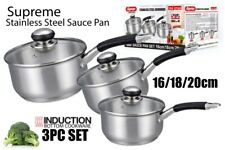 Stainless Steel Milk Pan With Soft Handle Saucepan Induction Electric Gas Hob