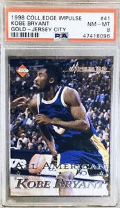 1998 #525/5000 Kobe Bryant Collectors Edge Gold Jersey City PSA Graded Card RARE