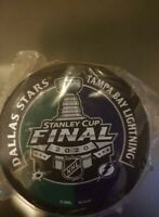 2020 Stanley Cup Dueling Hockey Puck Tampa Bay Lightning Dallas Stars