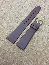 20mm DARK BROWN STRAP Vintage HIRSCH CALF LEATHER Mens WATCH BAND  New Old Stock