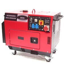 06263 Diesel Stromerzeuger 5800 schallisoliert 400V Generator leise Schallgedämm