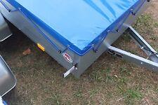 Flachplane nach Maß bis 2.50 Meter Länge Enzianblau in 680 gr/m²