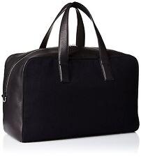 Jack Spade Men's Kahn Wool and Leather Overnight Bag Navy NYRU2330 $598 msrp NWT