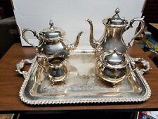 Vintage International WILCOX SILVERPLATED DU BARRY Floral TEA/COFFEE SERVICE