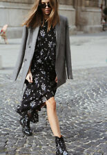 Designer ERDEM X H&M ltd edition black pure silk floral Caitlyn dress BNWT sz 14