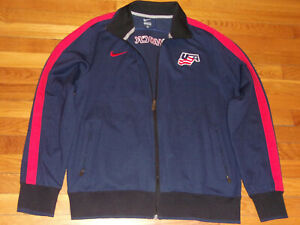 NIKE USA HOCKEY FULL ZIP ATHLETIC JACKET MENS XL EXCELLENT CONDITION