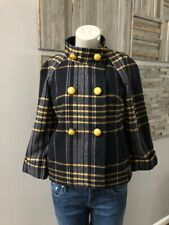 Liquid Plaid Double Breasted Coat Size 2