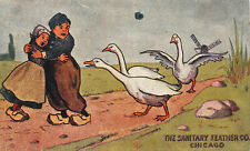 The Sanitary Feather Co., Chicago, Early Trade Card, Size: 90 mm x 148 mm