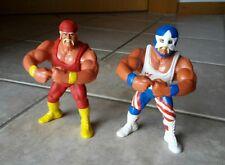 2 x Hulk Hogan Hasbro Series 2 Custom Hulkamania Mr. America WWF WWE Wrestling
