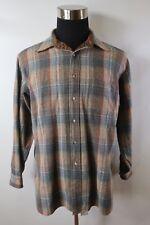 D02989 VTG Men's PENDLETON 100% Virgin Wool Plaid Long Sleeve Shirt Size XL USA