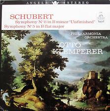 S-36164 Schubert Symphony no. 5 & 8 Unfinished Klemperer NM/EX Angel Stereo