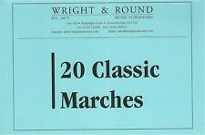 20 Classic Marches - Brass Band - A5 Spiral Bound Music Part Books - Various
