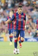 "NEYMAR ""BEHIND THE FOOTBALL FOR FC BARCELONA"" POSTER -Soccer, UEFA,La Liga, FIFA"