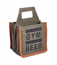 MONA B. CANVAS TOTE BAG PURSE BEER CARRIER NWT 6 PACK PARTY Gym Up Cycle Fathers