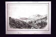 Veduta di Epidauro, Grecia Incisione del 1850 L'Univers pittoresque